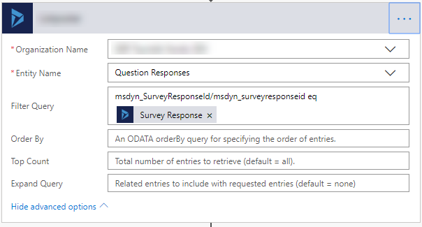 Formating Web API query for getting VoC Survey questions