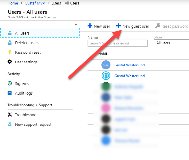 Azure guest accounts in CDS/Dyn365